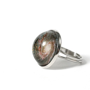 Örvény-galaxis antiallergén gyűrű, vadászebek csillagékszer, horoszkóp ékszer, Ékszer, Gyűrű, Ékszerkészítés, Az Örvény-galaxis a mi galaxisunkhoz, a Tejútrendszerhez hasonló galaxis. Tőlünk megközelítőleg 25 m..., Meska
