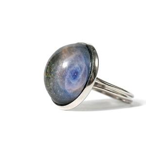Macskaszem-köd antiallergén gyűrű, Sárkány csillagkép, horoszkóp ékszer, Ékszer, Gyűrű, Ékszerkészítés, A Macskaszem-köd az egyik legismertebb csillagköd. A gyönyörű formák és színek a középpontban találh..., Meska