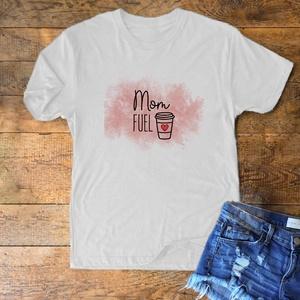 """""""Mom Fuel"""" póló, Ruha & Divat, Fotó, grafika, rajz, illusztráció, Mindenmás, """"Mom Fuel"""" póló \n\nFő tulajdonságok:\nAlapanyag: Malfini Basic póló\nÖsszetétele: 100% pamut, 160g/m2\nE..., Meska"""