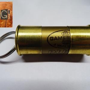 Töltényhüvely-kulcstartó (nagy), Táska & Tok, Kulcstartó & Táskadísz, Kulcstartó, Újrahasznosított alapanyagból készült termékek, Fémmegmunkálás, Sörétes puska töltényhüvelyéből készült kulcstartó, melyben üzenet vagy egyéb kis tárgy is elhelyezh..., Meska