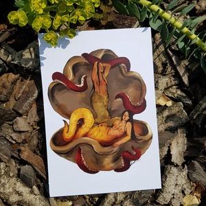 Kígyó lányok kagylóban / Snake girls in a clam - Meska.hu