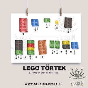 LEGO FALIKÉP GYEREKSZOBÁBA, Kép & Falikép, Dekoráció, Otthon & Lakás, Fotó, grafika, rajz, illusztráció, A törtek megértéséhez nyújt segítséget ez a Lego illusztrációs falikép. \nMatekozz játékosan!\n\nAz ár ..., Meska