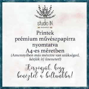 MONOGRAM FALIKÉP, Babaszoba dekoráció, -C- betű (Studioin) - Meska.hu