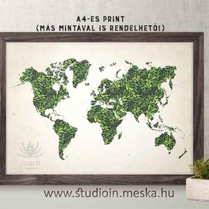Zöld mintás világatlasz, leveles világatlasz, világtérkép falikép, Zöld Atlasz dekoráció, pipacs, Dekoráció, Otthon & lakás, Lakberendezés, Falikép, Egyéb, Fotó, grafika, rajz, illusztráció, Zöld mintás világatlasz, leveles világatlasz, világtérkép falikép, Zöld Atlasz dekoráció, pipacs\n\nA ..., Meska
