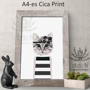 Cicás Falikép Babaszobába, macskás falikép, kislány szoba dekoráció, cicás gyerekszoba falikép,macska kép , Kép & Falikép, Dekoráció, Otthon & Lakás, Fotó, grafika, rajz, illusztráció, Cicalányos falikép csajos szobába  vagy bárkinek aki kedveli a bundásokat. Kedves állatos dekoráció ..., Meska