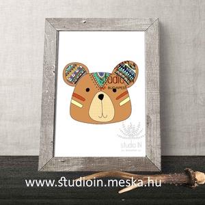 Erdei állatos falikép szett gyerekszobába, nyuszi, róka, maci, bagoly, mókus képek, gyerekszoba dekoráció,  (Studioin) - Meska.hu