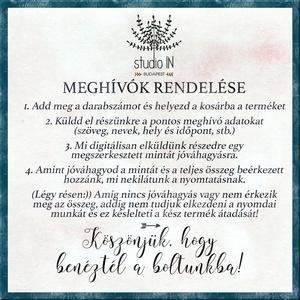 Téli elegáns Meghívó, Esküvői Meghívó, Kék Esküvő, kék Meghívó szett,  (Studioin) - Meska.hu