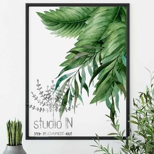 Trópusi fali kép, Zöld leveles dekoráció, trópusi leveles fali kép, dzsungel mintás kép, Kép & Falikép, Dekoráció, Otthon & Lakás, Fotó, grafika, rajz, illusztráció, Dzsungel mintás, trópusi időtálló fali kép dekoráció. Ez a trópusi leveles fali kép nagyszerű kiegés..., Meska