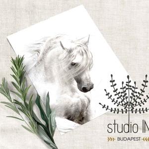 Lovas falikép, lovas dekoráció, lovas gyerekszobai falikép, fehér ló, Lakberendezés, Otthon & lakás, Falikép, Dekoráció, Kép, Fotó, grafika, rajz, illusztráció, Lovas falikép.\n\nA kép 270 g/m2-es matt papírra kerül kinyomtatásra a kiválasztott méretben.\n\nAz ár 1..., Meska