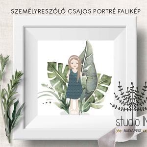 Kislány portré falikép, személyre szóló ajándék, ajándék portré falikép, Lakberendezés, Otthon & lakás, Falikép, Gyerek & játék, Gyerekszoba, Fotó, grafika, rajz, illusztráció, Személyre szabott portré dekoráció. Küldj egy képet vagy személyleírást és mi elkészítjük az annak m..., Meska