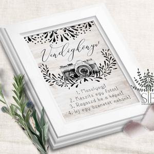 Esküvői fotóalbum felirat, polaroid fotó felirat, fénykép, esküvői fotó felirat dekoráció, Esküvő, Esküvői dekoráció, Meghívó, ültetőkártya, köszönőajándék, Fotó, grafika, rajz, illusztráció, Hívjátok fel a vendégek figyelmét a fotókészítésre ezzel a polaroid vendégkönyv felirattal. \n\nA fent..., Meska