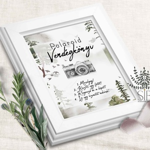 Esküvői fotóalbum felirat, polaroid fotó felirat, fénykép, esküvői fotó felirat dekoráció, Album & Fotóalbum, Emlék & Ajándék, Esküvő, Fotó, grafika, rajz, illusztráció, Hívjátok fel a vendégek figyelmét a fotókészítésre ezzel a polaroid vendégkönyv felirattal. \n\nA fent..., Meska