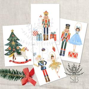 Diótörő karácsonyi mini kártya, Diótörős ünnepi ajándékkísérő, ajándékátadó mini képeslap, Otthon & lakás, Naptár, képeslap, album, Ajándékkísérő, Karácsony, Fotó, grafika, rajz, illusztráció, Diótörő mini karácsonyi ajándékkísérő kártya, glitterrel díszítve. Diótörős ünnepi ajándékkísérő, aj..., Meska