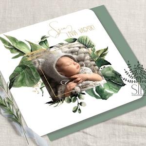 Babaköszöntő lap, Megérkeztem képeslap, Bababejelentő kártya, , Képeslap & Levélpapír, Papír írószer, Otthon & Lakás, Fotó, grafika, rajz, illusztráció, Megérkeztem, baba születési értesítő képeslap borítékkal.\n\nOszd meg szeretteiddel az örömhírt és tud..., Meska