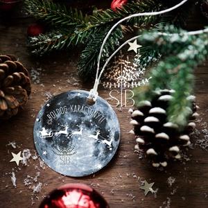 Karácsonyi ajándékkísérő, ünnepi ajándékkísérő, kerek ajándékkártya, csomagolás dekoráció, Otthon & lakás, Naptár, képeslap, album, Ajándékkísérő, Karácsony, Fotó, grafika, rajz, illusztráció, Add át ajándékaid stílusosan. Ezek a kis kerek ajándékkísérő biléták szuper jól mutatnak bármilyen a..., Meska