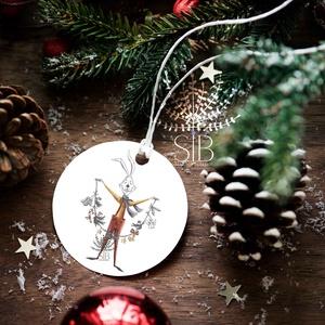 Karácsonyi ajándékkísérő, ünnepi ajándékkísérő, kerek ajándékkártya, csomagolás dekoráció, Ajándékkísérő, Papír írószer, Otthon & Lakás, Fotó, grafika, rajz, illusztráció, Add át ajándékaid stílusosan. Ezek a kis kerek ajándékkísérő biléták szuper jól mutatnak bármilyen a..., Meska