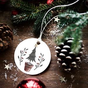 Karácsonyi ajándékkísérő, ünnepi ajándékkísérő, kerek ajándékkártya, csomagolás dekoráció, Karácsonyi képeslap, Karácsony & Mikulás, Fotó, grafika, rajz, illusztráció, Add át ajándékaid stílusosan. Ezek a kis kerek ajándékkísérő biléták szuper jól mutatnak bármilyen a..., Meska
