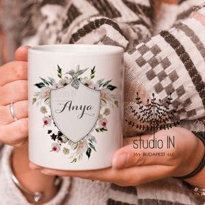 Anya Bögre, bögre anyukáknak, anya ajándék bögre zöld növényes bögre, Otthon & lakás, Konyhafelszerelés, Bögre, csésze, Karácsony, Decoupage, transzfer és szalvétatechnika, Fotó, grafika, rajz, illusztráció, Ajándék bögre anyukáknak.Karácsonyra, Anyák napjára vagy születésnapra is kedves ajándék. \n\nEzek a b..., Meska