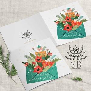 karácsonyi képeslap, karácsonyi ajándékkísérő, karácsonyi üdvözlő lap, Karácsonyi képeslap, Karácsony & Mikulás, Otthon & Lakás, Fotó, grafika, rajz, illusztráció, Karácsonyi képeslap.\n\nA képeslapok matt, hófehér papírra vannak nyomtatva. \n\nAmit küldünk:\n\n1 db 13x..., Meska