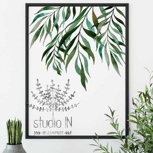 Trópusi fali kép, Zöld leveles dekoráció, trópusi leveles fali kép, dzsungel mintás kép, Otthon & lakás, Dekoráció, Lakberendezés, Falikép, Kép, Fotó, grafika, rajz, illusztráció, Dzsungel mintás, trópusi időtálló fali kép dekoráció. Ez a trópusi leveles fali kép nagyszerű kiegés..., Meska