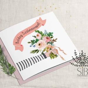 Születésnapi képeslap, szülinapi névreszóló képeslap, barátnő képeslap, Képeslap & Levélpapír, Papír írószer, Otthon & Lakás, Fotó, grafika, rajz, illusztráció, Születésnapi képeslap\n\nA képeslapok matt, hófehér papírra vannak nyomtatva. \n\nAmit küldünk:\n\n1 db 13..., Meska