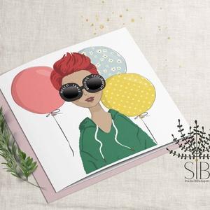 Születésnapi képeslap, szülinapi névreszóló képeslap, barátnő képeslap, csajos ajándék, Képeslap & Levélpapír, Papír írószer, Otthon & Lakás, Fotó, grafika, rajz, illusztráció, Születésnapi képeslap\n\nA képeslapok matt, hófehér papírra vannak nyomtatva. \nVásárlásnál írd meg a n..., Meska