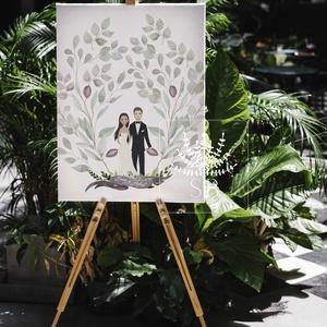 Esküvői vendégkönyv, esküvői vendégtábla, alternatív esküvői vendégkönyv, Vendégkönyv, Emlék & Ajándék, Esküvő, Fotó, grafika, rajz, illusztráció, Esküvői vendégkönyv tábla formában újjlenyomat helyett. \nAlternatív esküvői vendégkönyv, ahol a leve..., Meska