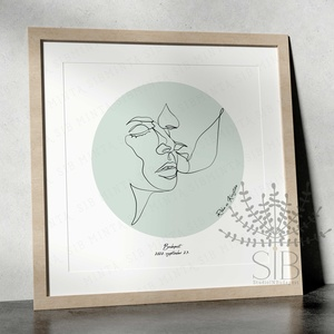 Vonalrajz, arc vonalrajz, férfi és női arc vonalrajzok, minimalista falikép, egyvonalas rajz, násza, Otthon & lakás, Dekoráció, Kép, Lakberendezés, Falikép, Esküvő, Nászajándék, Fotó, grafika, rajz, illusztráció, Egyvonalas rajz. Minimalista stílusban készültek ezek a vonalrajzok. Egyszerű és menő kiegészítői le..., Meska