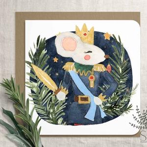"""Diótörő karácsonyi képeslap, karácsonyi ajándékkísérő, karácsonyi üdvözlő lap, egérkirály, katona, balett, Otthon & Lakás, Karácsony & Mikulás, Karácsonyi képeslap, Fotó, grafika, rajz, illusztráció, Diótörős sorozatunk tagja ez a karácsonyi képeslap.\nA bolt \""""Karácsony\"""" polcán további diótörős lapok..., Meska"""