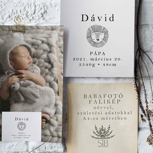 Baba fotó falikép oroszlán mintával, babaszoba dekoráció, babaszületési ajándék, kismamáknak, keresztelő ajándék, Otthon & Lakás, Dekoráció, Kép & Falikép, Babafotó falikép. Oroszlános. A4-es méretben nyomtatva (29.7 cm x 21 cm)  Egyedi és különleges dísze..., Meska