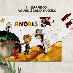 Puzzle kirakó játék Kis herceg mintával, névre szólóan. 24 db-os puzzle egyedi felirattal., Játék & Gyerek, Készségfejlesztő & Logikai játék, Fotó, grafika, rajz, illusztráció, Decoupage, transzfer és szalvétatechnika, 24 db-os puzzle kirakó egyedi felirattal, Kis herceg mintával.\nAz első 6-10 darabos kirakós játékok ..., Meska