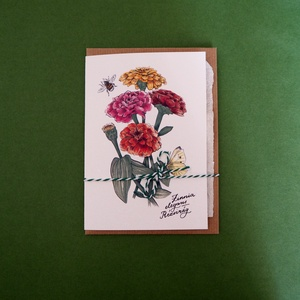 Paperplant üdvözlőlap virágmagokkal, rézvirág (StudioKisinas) - Meska.hu