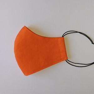Narancssárga szájmaszk - 1-es méret, NoWaste, Textilek, Kendő, Varrás, 1-es méret\nMérete:\nszélessége: 23,2 cm\nmagassága középen: 11,7 cm\nmagassága oldalt: 5,2 cm\n\nAz anyag..., Meska