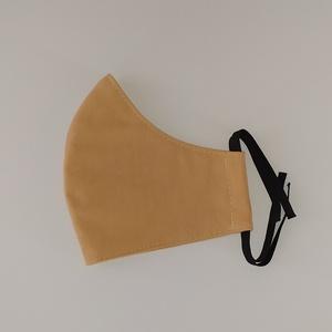 Világosbarna szájmaszk - 3-as méret, NoWaste, Textilek, Kendő, Varrás, 3-as méret \nMérete:\nszélessége: 26,5 cm\nmagassága középen: 14,8 cm\nmagassága oldalt: 5,5 cm\n\nAz anya..., Meska