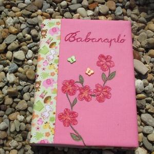 Babanapló rózsaszín 2, jegyzetüzet, napló, emlékkönyv  - Meska.hu