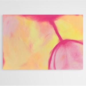 """Absztrakt festmény 100x70 cm, Művészet, Festmény, Akril, Festészet, \""""Szívben Tavasz\""""\nVidám, tavaszias hangulatú akril festmény vásznon. Álló és fekvő formában is jól mu..., Meska"""