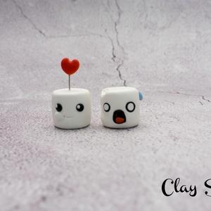 Habcsók pár/Marshmallow párocska/Úgy szeretlek, majd megeszlek, Dísztárgy, Dekoráció, Otthon & Lakás, Gyurma, Úgy szeretlek, majd megeszlek...\nSüthető gyurmából kézzel formázott kis habcsókok. \nTökéletes ajándé..., Meska