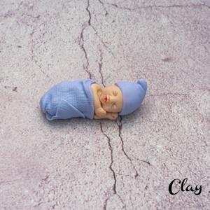 Baba emlék, Otthon & Lakás, Dekoráció, Gyurma, Lepd meg párodat ezzel a kis alvó babával, ha különleges módon szeretnéd tudatni vele babátok érkezé..., Meska