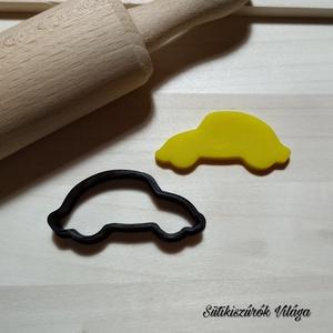 VW Beetle körvonal - süteménykiszúró forma, sütipecsét. Linzer, mézeskalács, keksz kiszúró, Sütikiszúró, Konyhafelszerelés, Otthon & Lakás, Mindenmás, VW Beetle körvonal forma sütemény kiszúró.\nSaját tervezésű süteménykiszúró forma, mely 3D nyomtatáss..., Meska