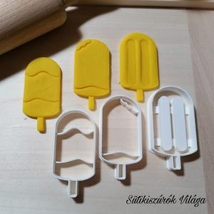 Pálcikás jégkrémek - süteménykiszúró forma, sütipecsét. Linzer, mézeskalács, keksz kiszúró, Otthon & lakás, Konyhafelszerelés, Mindenmás, Mézeskalácssütés, 3d pálcikás jégkrém forma sütemény kiszúró. \nSaját tervezésű süteménykiszúró forma, mely 3D nyomtatá..., Meska