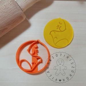Kutya macska Yin-yang - süteménykiszúró forma, sütipecsét. Linzer, mézeskalács, keksz kiszúró, Sütikiszúró, Konyhafelszerelés, Otthon & Lakás, Mindenmás, Mézeskalácssütés, Kutya, macska fej, Yin-yang forma sütemény kiszúró.\nSaját tervezésű süteménykiszúró forma, mely 3D n..., Meska