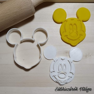 Mickey egér fej - süteménykiszúró forma, sütipecsét. Linzer, mézeskalács, keksz kiszúró, Sütikiszúró, Konyhafelszerelés, Otthon & Lakás, Mindenmás, Mézeskalácssütés, Mickey egér fej forma sütemény kiszúró. \nSaját tervezésű süteménykiszúró forma, mely 3D nyomtatással..., Meska