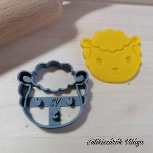 Bárány fej - süteménykiszúró forma, sütipecsét. Linzer, mézeskalács, keksz kiszúró, Sütikiszúró, Konyhafelszerelés, Otthon & Lakás, Mindenmás, Mézeskalácssütés, Bárány fej sütemény kiszúró.\nSaját tervezésű süteménykiszúró forma, mely 3D nyomtatással készül. Szí..., Meska