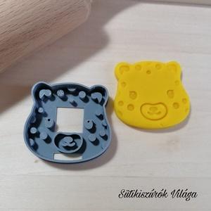 Párduc fej- süteménykiszúró forma, sütipecsét. Linzer, mézeskalács, keksz kiszúró, Sütikiszúró, Konyhafelszerelés, Otthon & Lakás, Mindenmás, Mézeskalácssütés, Párduc fej sütemény kiszúró.\nSaját tervezésű süteménykiszúró forma, mely 3D nyomtatással készül. Szí..., Meska