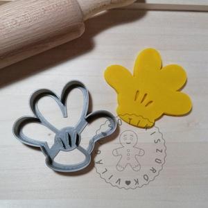 Mickey mancs - süteménykiszúró forma, sütipecsét. Linzer, mézeskalács, keksz kiszúró, Otthon & Lakás, Konyhafelszerelés, Sütikiszúró, Mindenmás, Mézeskalácssütés, Mickey egér mancsa sütemény kiszúró forma. \nSaját tervezésű süteménykiszúró forma, mely 3D nyomtatás..., Meska