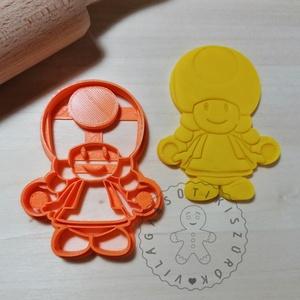 Toadett Super Mario - süteménykiszúró forma, sütipecsét. Linzer, mézeskalács, keksz kiszúró, Otthon & Lakás, Konyhafelszerelés, Sütikiszúró, Mindenmás, Mézeskalácssütés, Toadett a Super Marioból sütemény kiszúró forma. \nSaját tervezésű süteménykiszúró forma, mely 3D nyo..., Meska