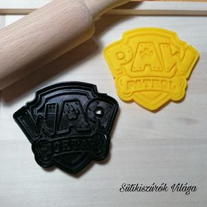 Paw Patrol / Mancs Őrjárat pajzs - süteménykiszúró forma, sütipecsét. Linzer, mézeskalács, keksz kiszúró, Otthon & Lakás, Konyhafelszerelés, Sütikiszúró, Mindenmás, Mézeskalácssütés, Paw Patrol / Mancs Őrjárat pajzs sütemény kiszúró forma és minta nyomó. \nSaját tervezésű süteménykis..., Meska