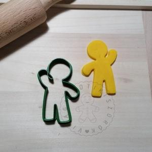 Mézeskalács emberke körvonal - süteménykiszúró forma, sütipecsét. Linzer, mézeskalács, keksz kiszúró, Otthon & Lakás, Konyhafelszerelés, Sütikiszúró, Mindenmás, Mézeskalácssütés, Mézeskalács emberke forma sütemény kiszúró.\nSaját tervezésű süteménykiszúró forma, mely 3D nyomtatás..., Meska