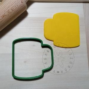 Bögre körvonal- süteménykiszúró forma, sütipecsét. Linzer, mézeskalács, keksz kiszúró, Otthon & Lakás, Konyhafelszerelés, Sütikiszúró, Mindenmás, Mézeskalácssütés, Bögre forma sütemény kiszúró.\nSaját tervezésű süteménykiszúró forma, mely 3D nyomtatással készül. Sz..., Meska