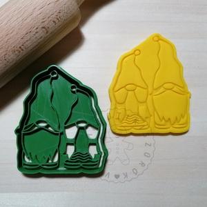 Karácsonyi manó mama és papa - süteménykiszúró forma, sütipecsét. Linzer, mézeskalács, keksz kiszúró, Otthon & Lakás, Konyhafelszerelés, Sütikiszúró, Mindenmás, Mézeskalácssütés, Karácsonyi manó mama és papa forma sütemény kiszúró és minta nyomó. Gnóm mama, papa. \nSaját tervezés..., Meska